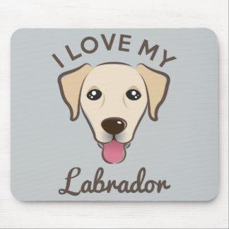 """I Love My Labrador"" Yellow Lab Mousepad"