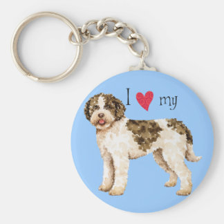 I Love my Lagotto Key Ring