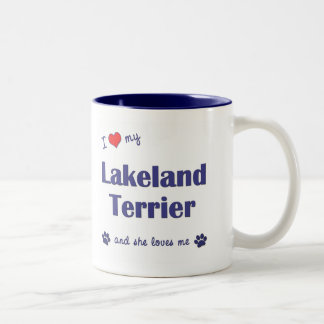 I Love My Lakeland Terrier (Female Dog) Two-Tone Coffee Mug
