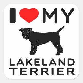 I Love My Lakeland Terrier. Square Sticker