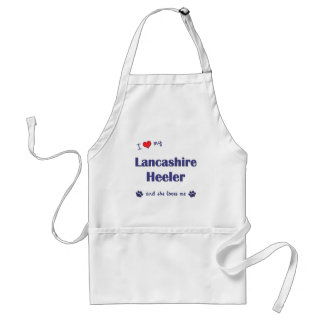 I Love My Lancashire Heeler (Female Dog) Standard Apron