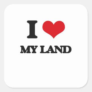 I Love My Land Square Sticker