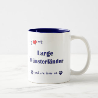 I Love My Large Munsterlander (Female Dog) Two-Tone Coffee Mug