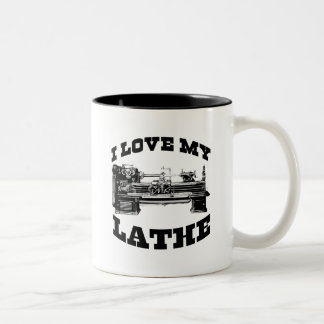 I Love My Lathe (as seen in Cuban Fury) Two-Tone Mug