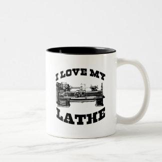 I Love My Lathe (as seen in Cuban Fury) Two-Tone Mug