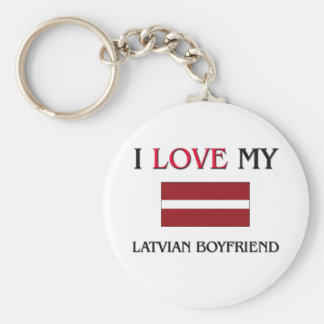I Love My Latvian Boyfriend Key Ring