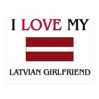 I Love My Latvian Girlfriend Postcard
