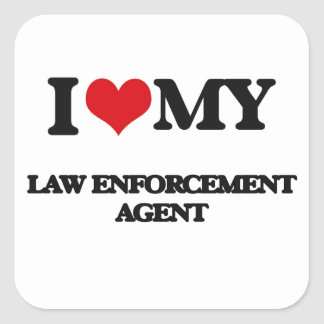 I love my Law Enforcement Agent Stickers