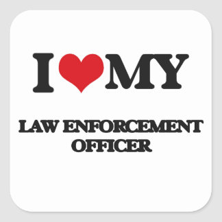 I love my Law Enforcement Officer Stickers