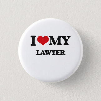 I love my Lawyer 3 Cm Round Badge