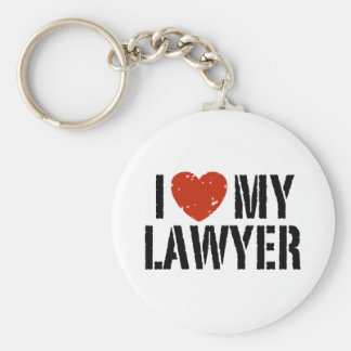 I Love My Lawyer Key Ring