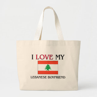 I Love My Lebanese Boyfriend Large Tote Bag