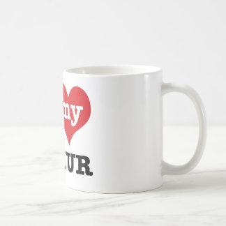 I love my lemur basic white mug