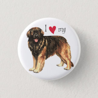 I Love my Leonberger 3 Cm Round Badge