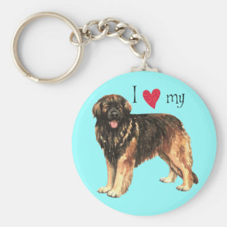 I Love my Leonberger Basic Round Button Key Ring