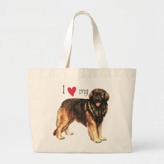 I Love my Leonberger Large Tote Bag