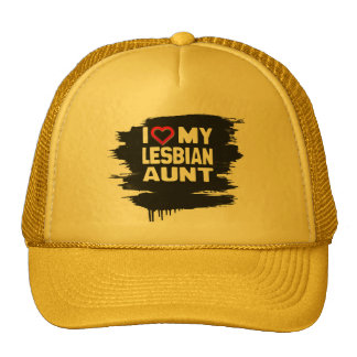 I LOVE MY LESBIAN AUNT - -.png Trucker Hat