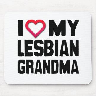 I LOVE MY LESBIAN GRANDMA -.png Mouse Pad