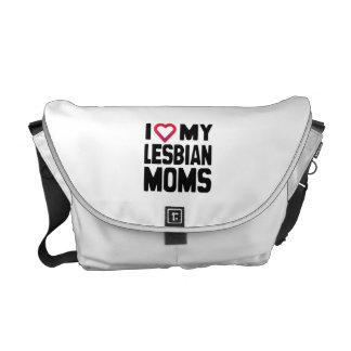 I LOVE MY LESBIAN MOMS -.png Messenger Bag