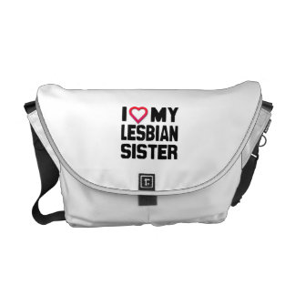 I LOVE MY LESBIAN SISTER -.png Messenger Bag