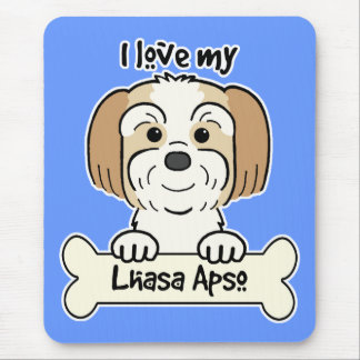 I Love My Lhasa Apso Mouse Mat