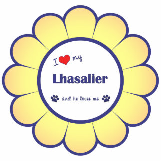 I Love My Lhasalier (Male Dog) Photo Sculpture Decoration