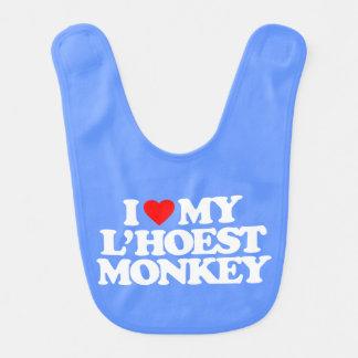 I LOVE MY L'HOEST MONKEY BABY BIB