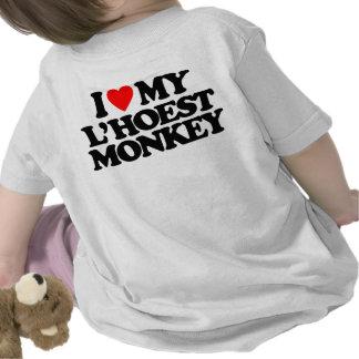 I LOVE MY L'HOEST MONKEY T SHIRTS