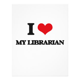 I Love My Librarian 21.5 Cm X 28 Cm Flyer