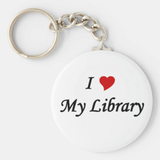 I love my library key ring