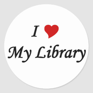 I love my library stickers