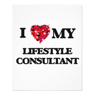 """I love my Lifestyle Consultant 4.5"""" X 5.6"""" Flyer"""