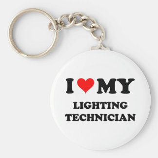 I Love My Lighting Technician Basic Round Button Key Ring