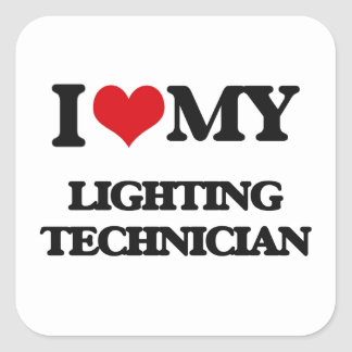 I love my Lighting Technician Stickers
