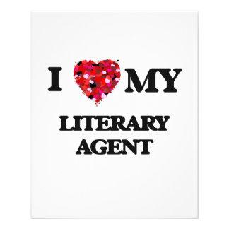 "I love my Literary Agent 4.5"" X 5.6"" Flyer"