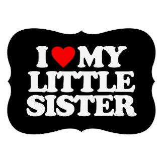 I LOVE MY LITTLE SISTER INVITE