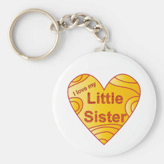 I love my little sister key chains