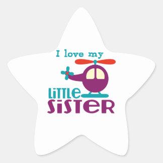 I love my Little Sister Star Sticker