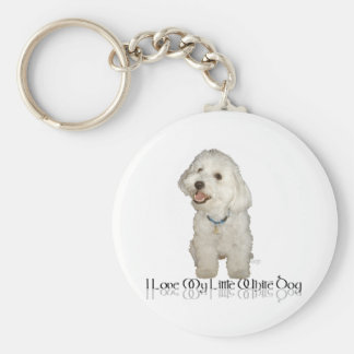 I Love My Little White Dog - Havanese Key Ring