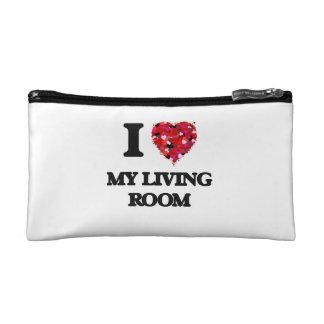 I Love My Living Room Cosmetics Bags