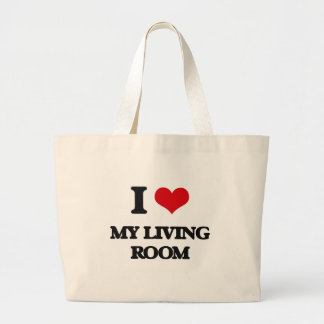 I Love My Living Room Tote Bags