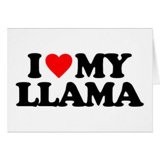 I LOVE MY LLAMA CARD