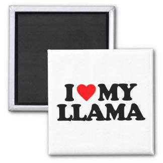 I LOVE MY LLAMA MAGNET