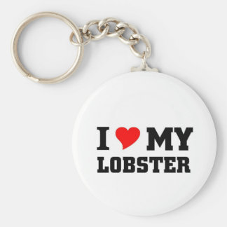 I love my Lobster Basic Round Button Key Ring