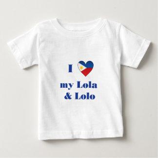 I Love My Lola and Lolo1 Baby T-Shirt