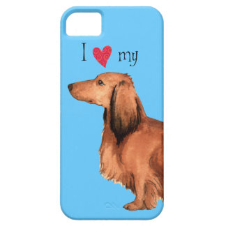 I Love my Longhaired Dachshund iPhone 5 Case