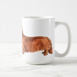 I Love my Longhaired Dachshund Coffee Mugs