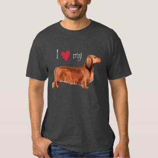 I Love my Longhaired Dachshund T-shirt