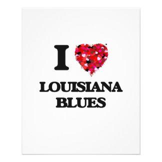I Love My LOUISIANA BLUES 11.5 Cm X 14 Cm Flyer