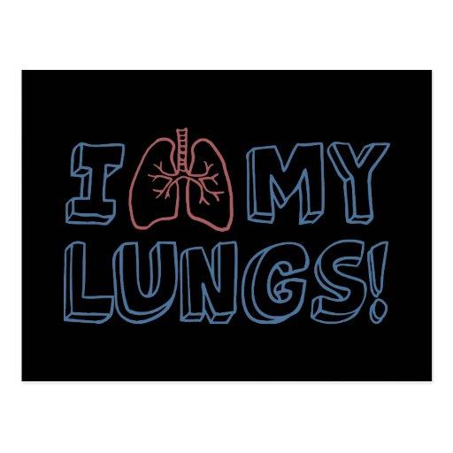 I Love My Lungs Postcard